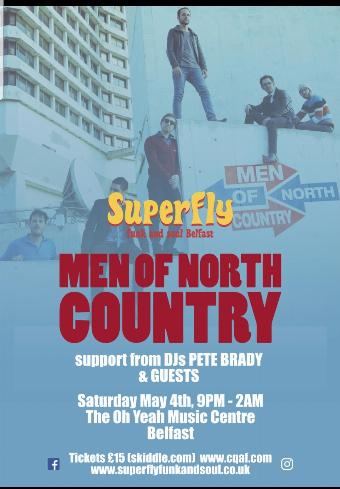 Generic placeholder imageSuperfly Funk and Soul Belfast presents Men of North Country