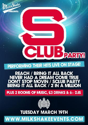 Generic placeholder imageMilkshake presents: S CLUB! Ministry of Sound
