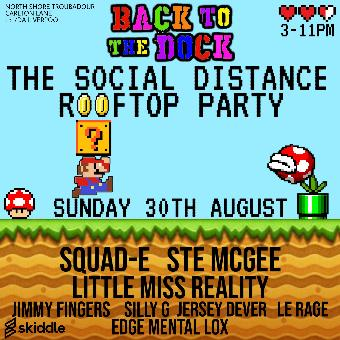 Generic placeholder imageBack to the Dock Social distance Rooftop party