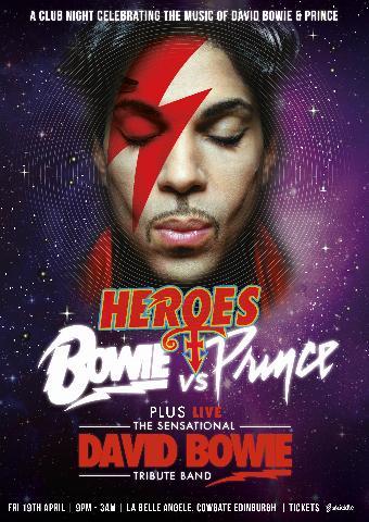 Generic placeholder imageBowie v Prince + LIVE The Sensational David Bowie Tribute Band