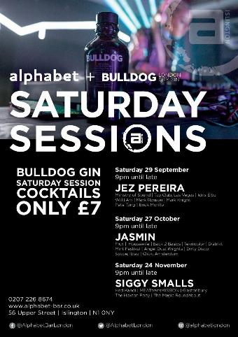 Generic placeholder imageAlphabet & BULLDOG Gin Saturday Sessions