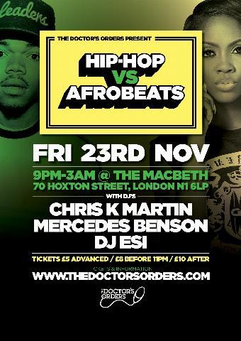 Generic placeholder imageHip-Hop vs Afrobeats