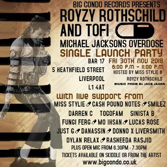 Generic placeholder imageRoyzy Rothschild and Tofi Michael Jacksons Overdose Launch Party