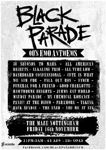 Generic placeholder imageBlack Parade - 00's Emo Anthems